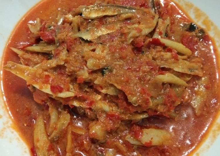 Resep memasak Ikan teri sambal tanak ala resto