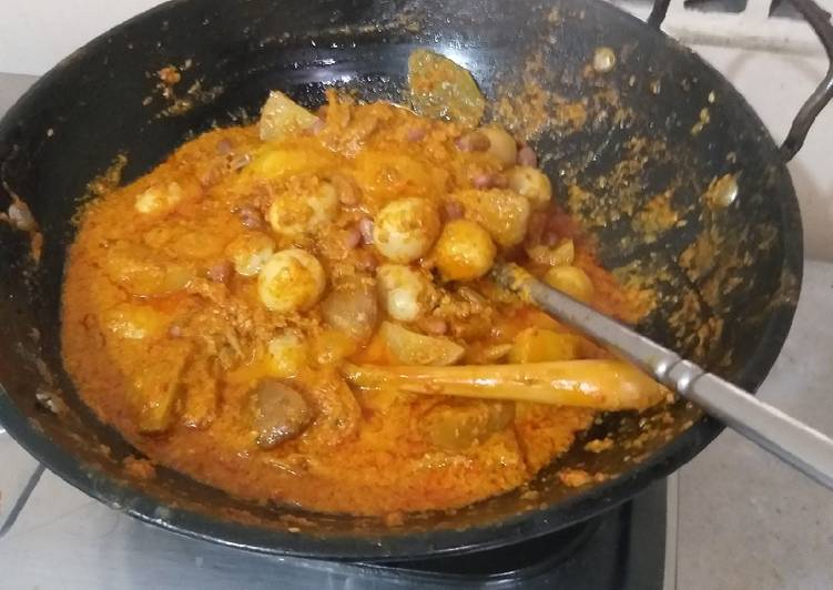 Cara memasak Sambalado tanak lezat