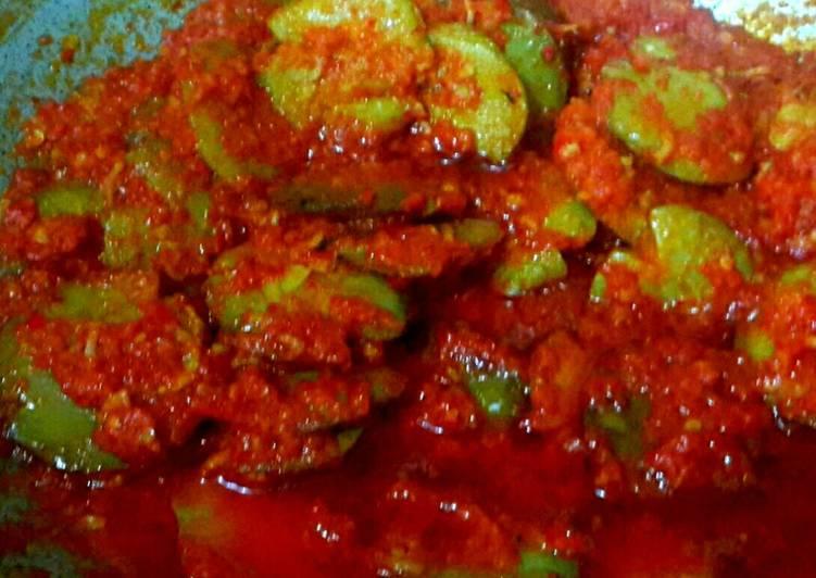 Cara Mudah mengolah Sambalado tanak joghiang/ jengkol (bumbu merah) lezat