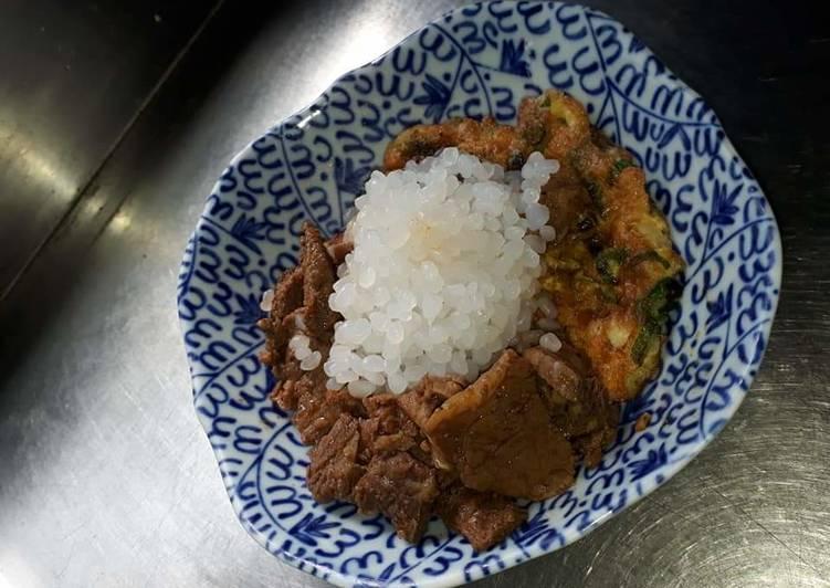 Cara mengolah Nasi shirataki,rendang sapi ala aku yang menggoyang lidah