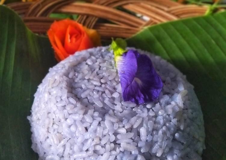 Nasi Gurih Bunga Telang