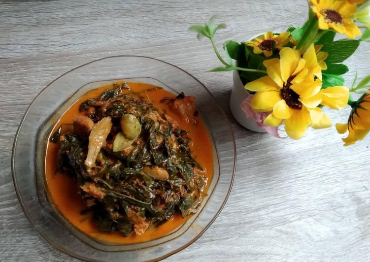 Resep: Samba lado tanak / gulai pucuk ubi/ gulai daun singkong lezat
