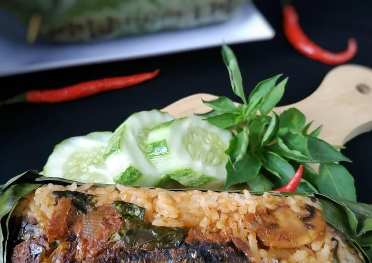 Nasi Bakar Sarden Jamur