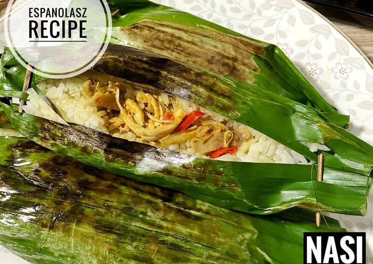 Cara Mudah memasak Nasi bakar ayam suwir kemangi 🔥 sedap