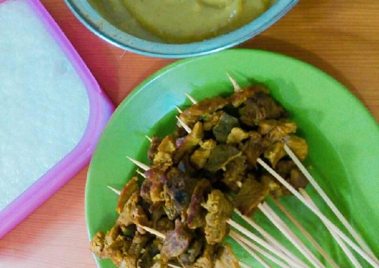 Cara membuat Sate Padang bumbu kuning ala resto
