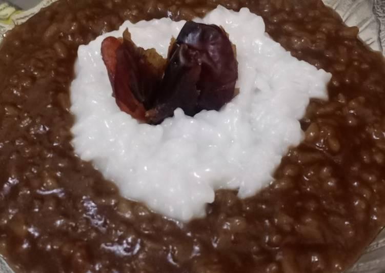 Cara membuat Bubur Merah Putih Istimewa (dari nasi sisa🤭) yang bikin ketagihan