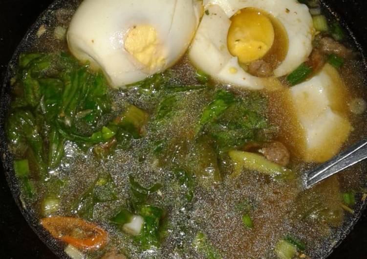 Resep: Tekusopa (Telur kua soto padang) #DIETDEBM ala resto