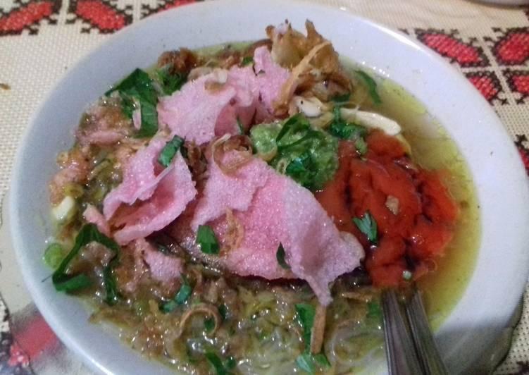 Soto Padang (persiapan menu di meja lebaran Idul fitri)