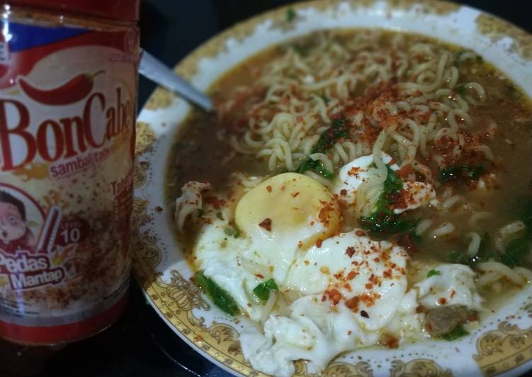 Resep: Indomie soto Padang boncabe enak