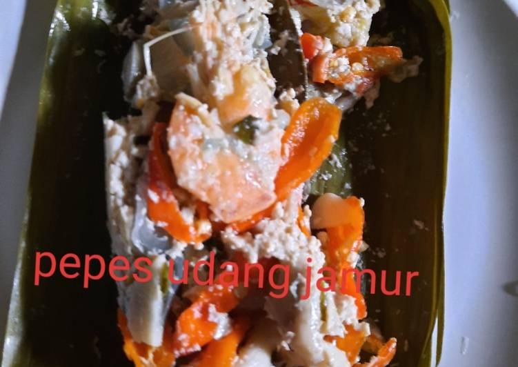 Pepes jamur udang