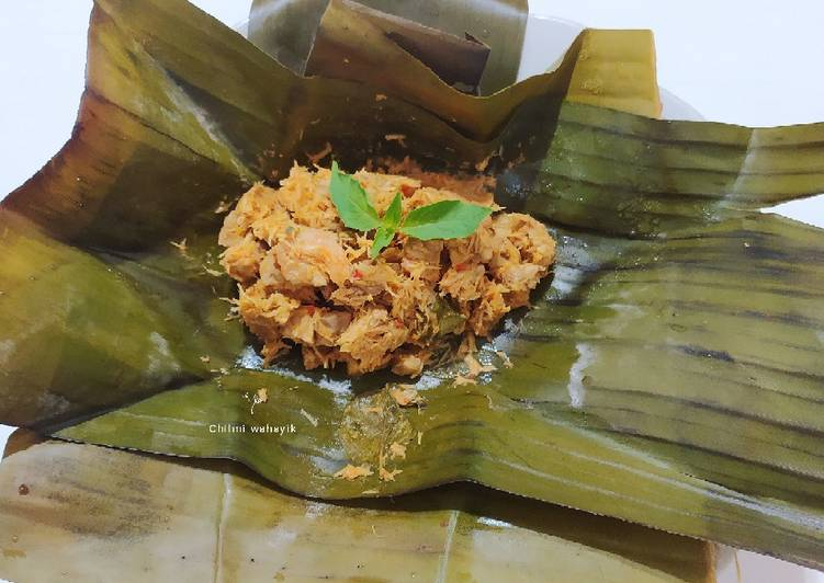 Resep membuat Pepes Udang tempe daun kemangi/ botokan urang tempe kemangi lezat