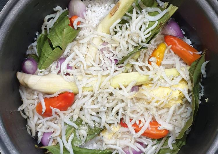 Resep: Nasi liwet ikan teri 🧡 ala resto