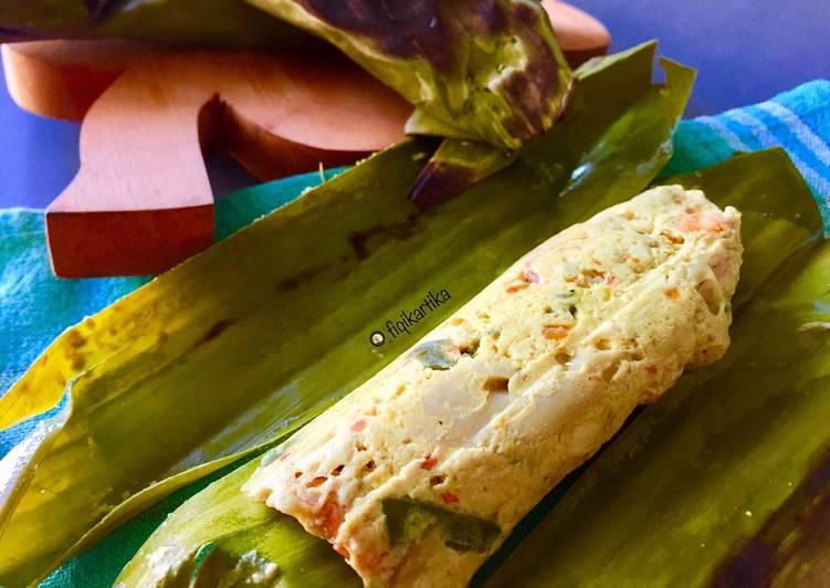 Cara Mudah memasak Pepes Tahu Jamur Udang yang menggugah selera