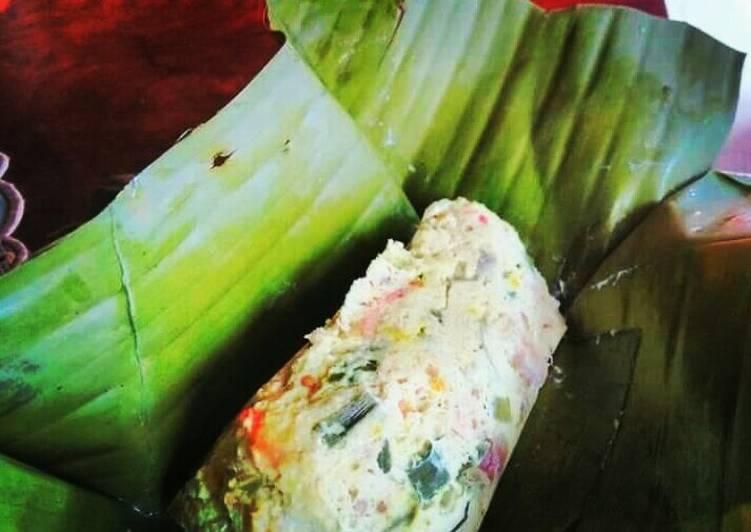 Resep: Bothok/pepes,Ayam,Udang,Tahu lezat