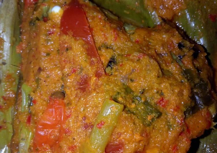 Resep mengolah Brengkes ikan bader jowo (pepes) lezat