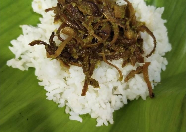 Nasi Unyil / Nasi Ucil Pedas Gurih Nagih (Vegan)