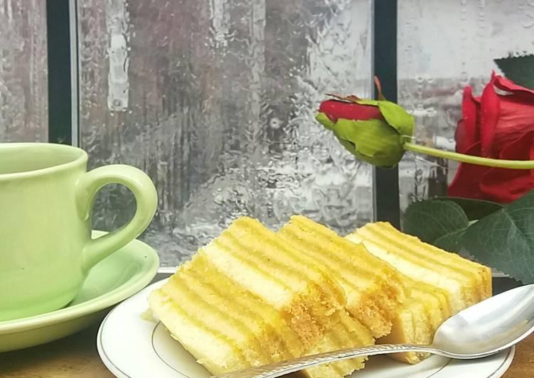 Cara memasak Bolu Lapis Nanas yang menggugah selera