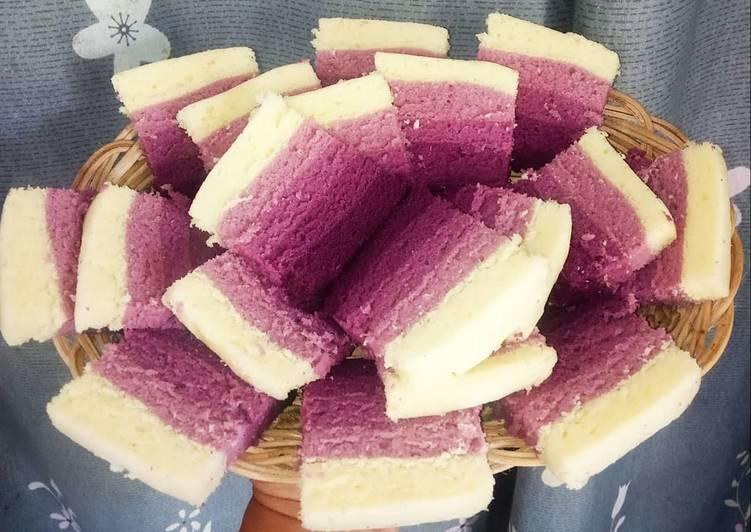 Cara Mudah memasak Bolu lapis ungu enak