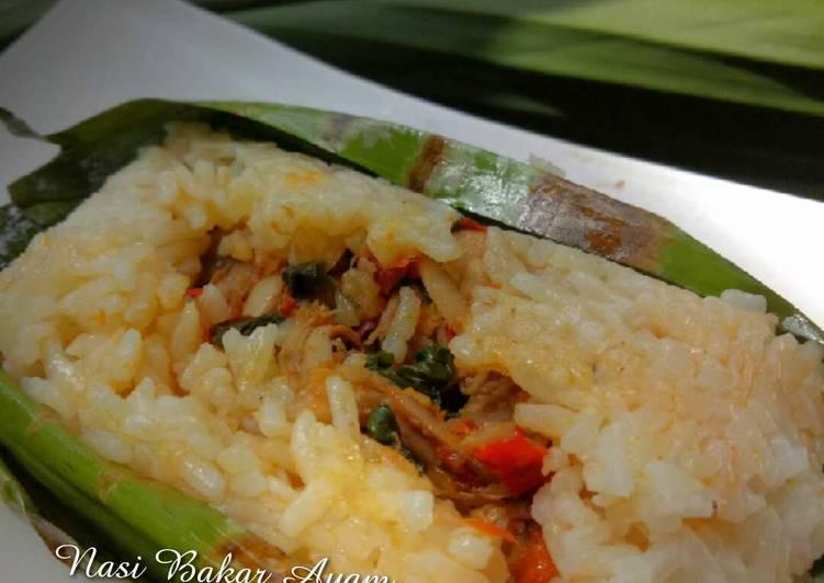 Cara memasak Nasi bakar ayam kemangi sedap