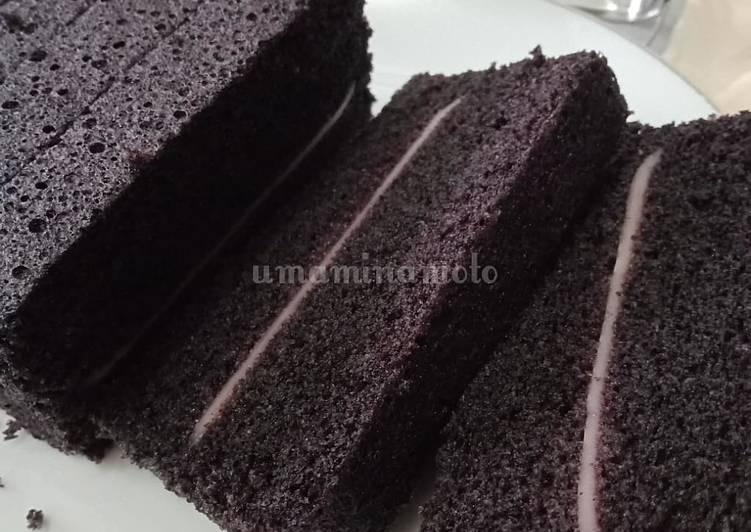 Cara membuat Bolu ketan hitam lapis keju lezat