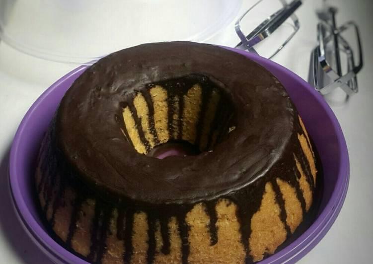 Resep: Bolu pisang lapis coklat sedap
