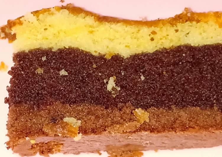 Resep: Bolu 3 Lapis ala Didi (3 layer cake) ala resto
