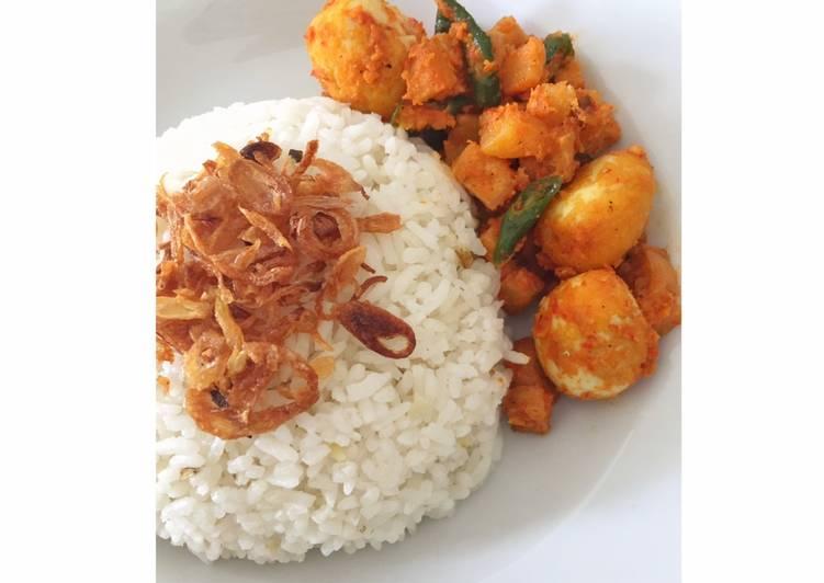 Resep memasak Nasi gurih/uduk fibercreme lezat