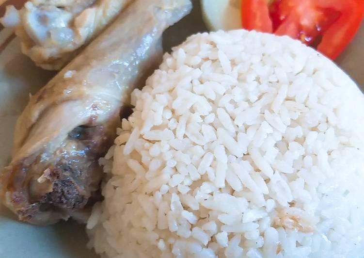 Resep: Nasi hainan w/ ayam kampung rebus istimewa
